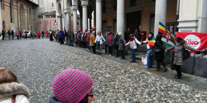 manifestazione arci in via italia a biella